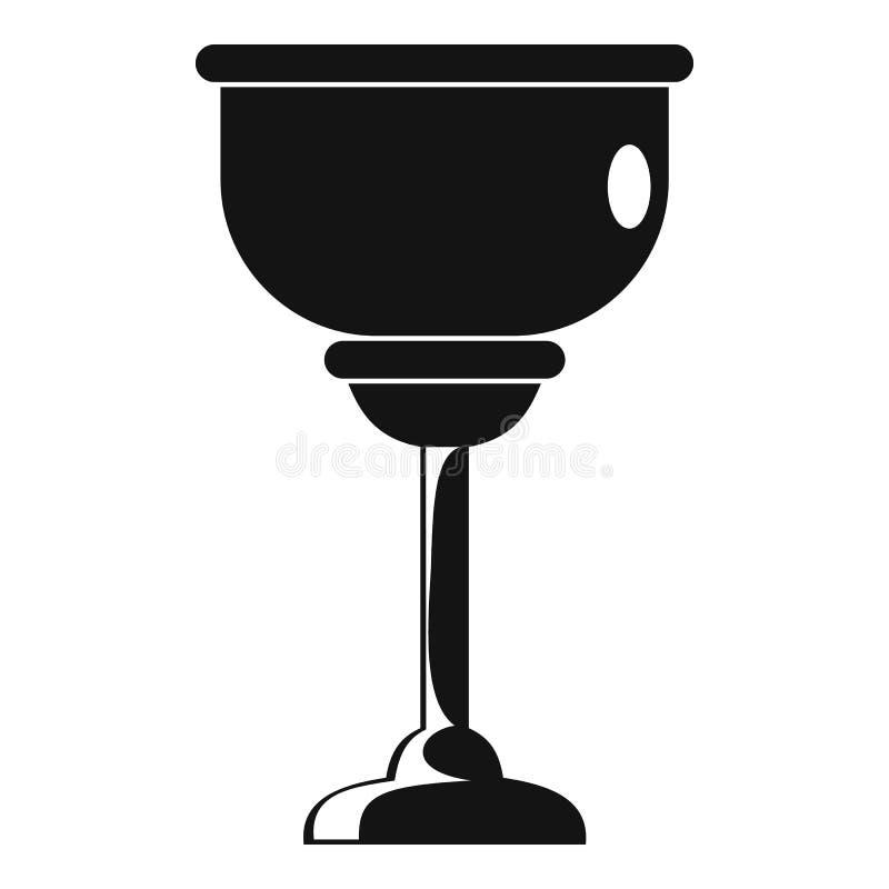 Ícone judaico do copo, estilo simples ilustração do vetor