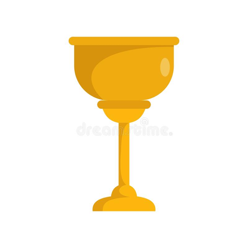 Ícone judaico do copo do ouro, estilo liso ilustração stock