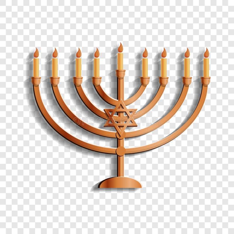 Ícone judaico do suporte da vela, estilo dos desenhos animados ilustração royalty free