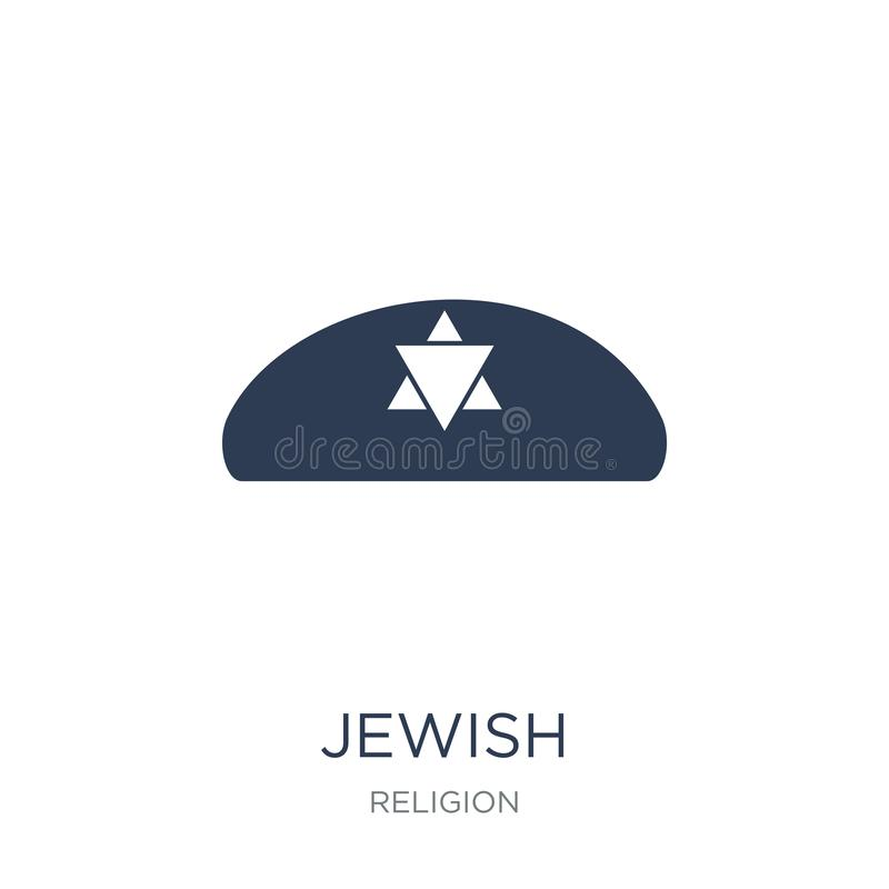 Ícone judaico Ícone judaico do vetor liso na moda no fundo branco ilustração stock