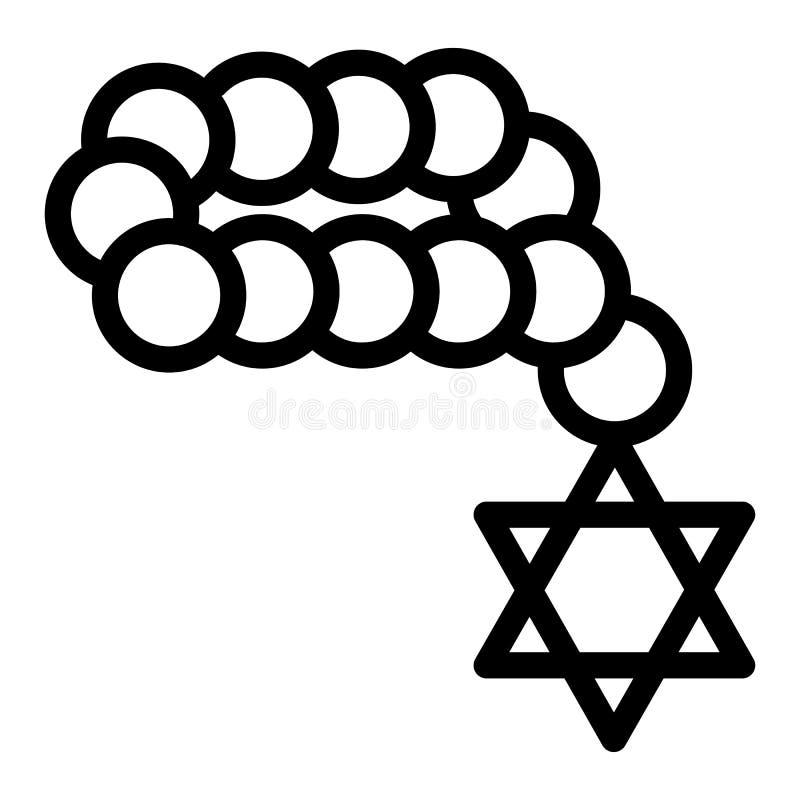 Ícone judaico dos grânulos, estilo do esboço ilustração do vetor