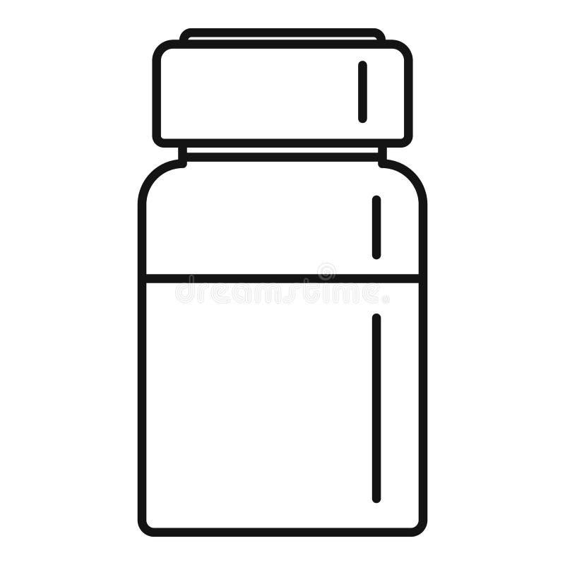 Ícone líquido da injeção, estilo do esboço ilustração stock