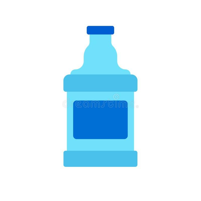 Ícone líquido do vetor da bebida da cerâmica azul do garrafão Entrega do logotipo da garrafa de água galão plástico grande do car ilustração stock
