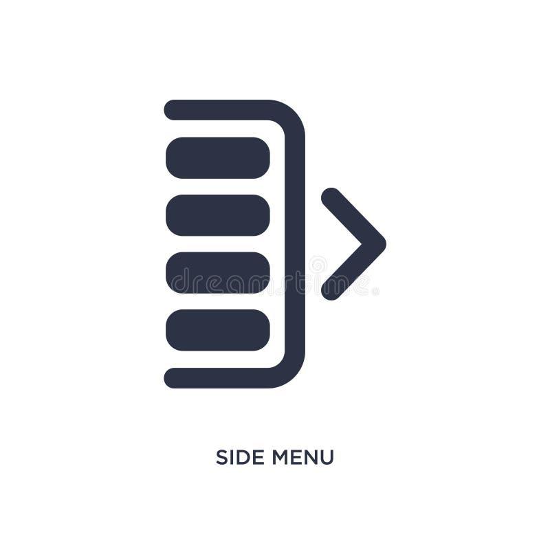 ícone lateral do menu no fundo branco Ilustração simples do elemento do conceito da interface de usuário ilustração royalty free