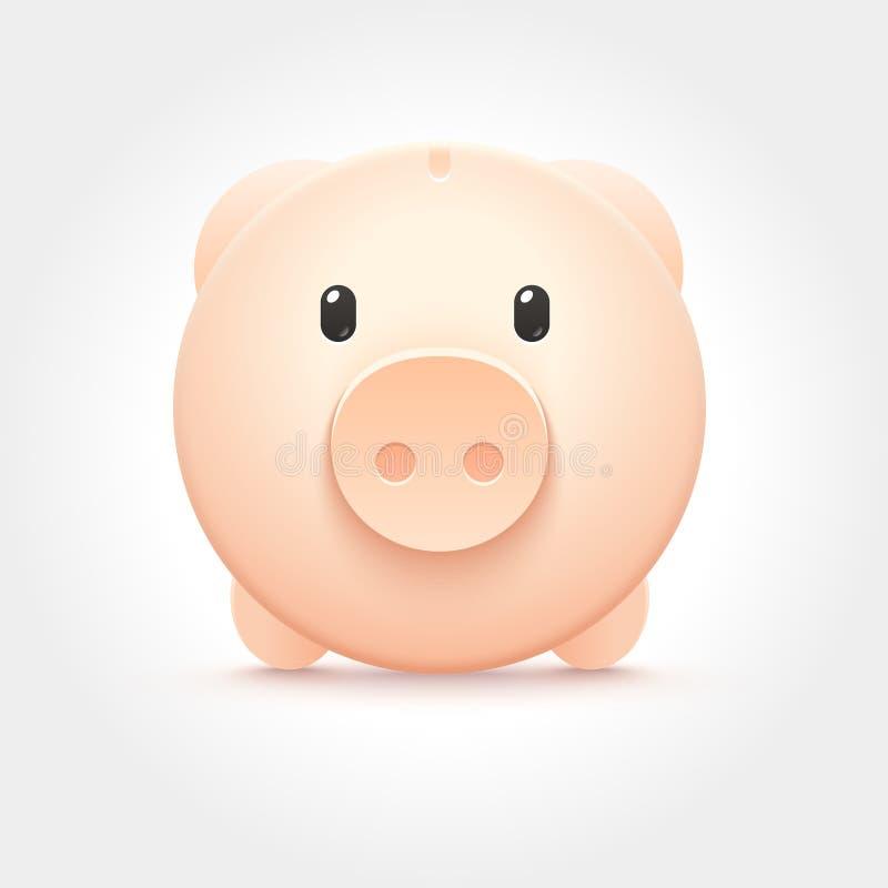 Ícone leitão da caixa de dinheiro do vetor ilustração stock