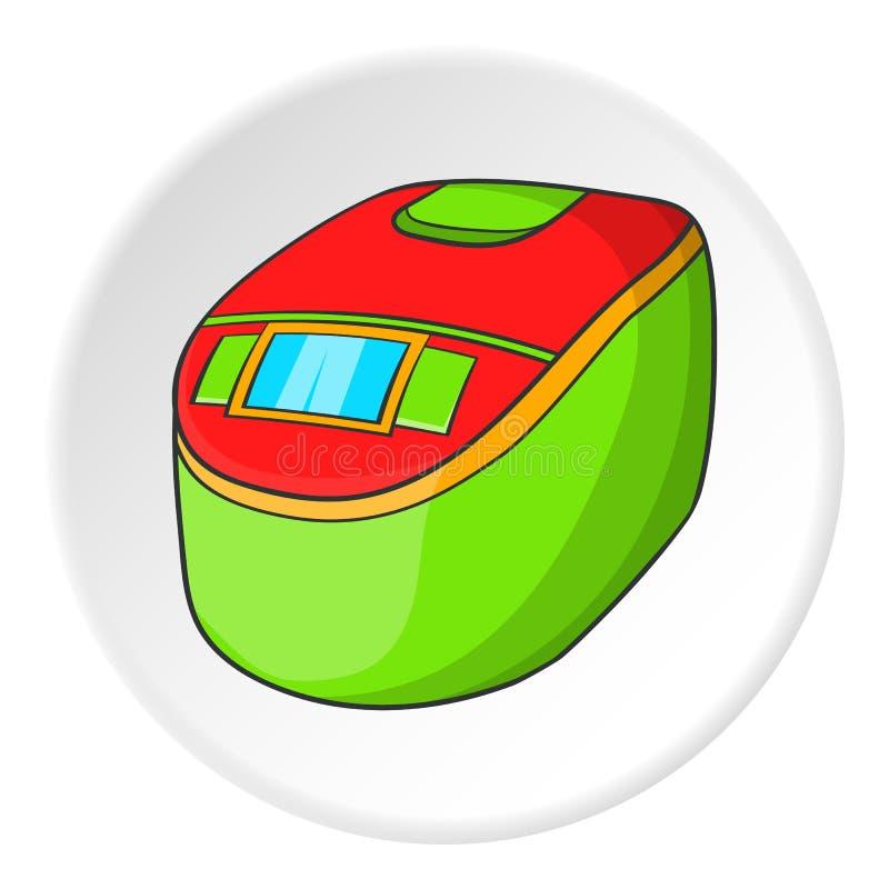 Ícone lento do fogão, estilo dos desenhos animados ilustração stock