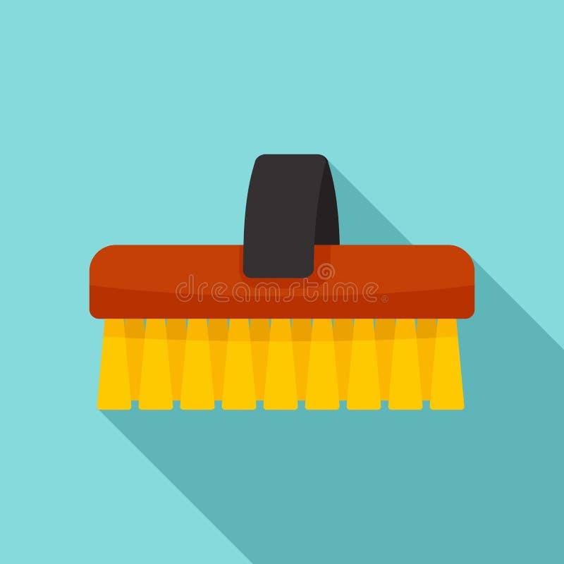 Ícone limpo da escova do cavalo, estilo liso ilustração do vetor