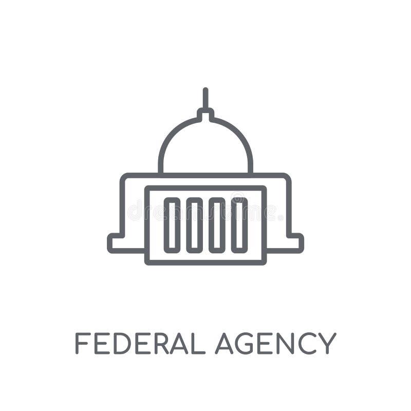 ícone linear da agência federal Logotipo moderno c da agência federal do esboço ilustração do vetor