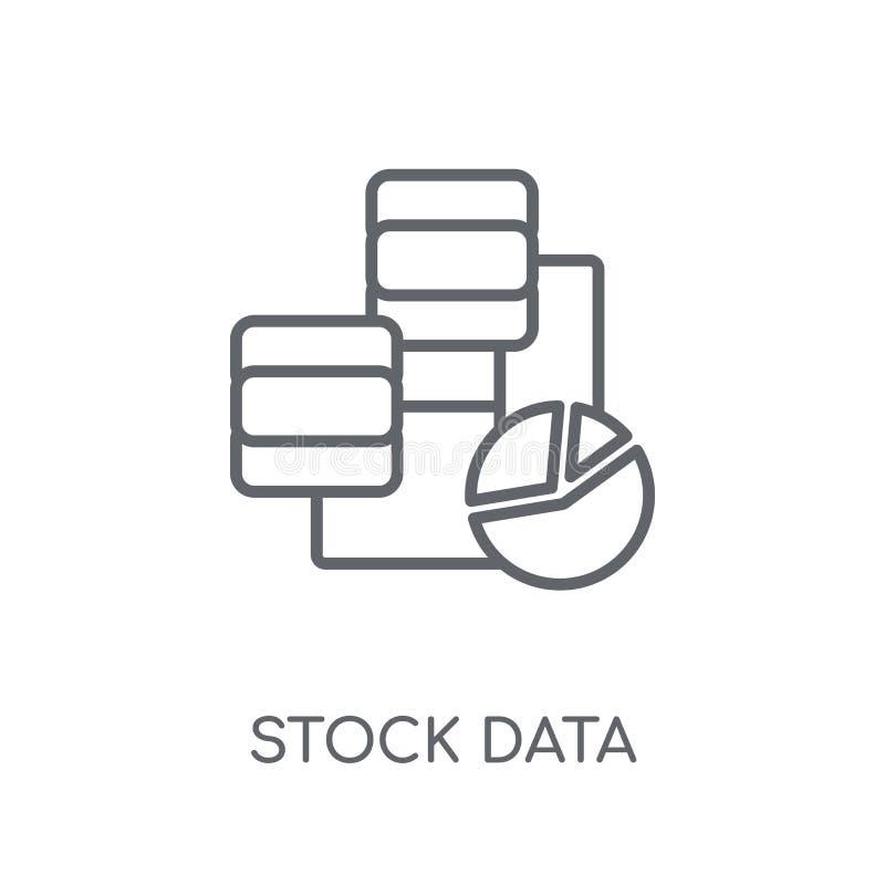 Ícone linear da análise de dados do estoque Dados modernos do estoque do esboço analy ilustração do vetor