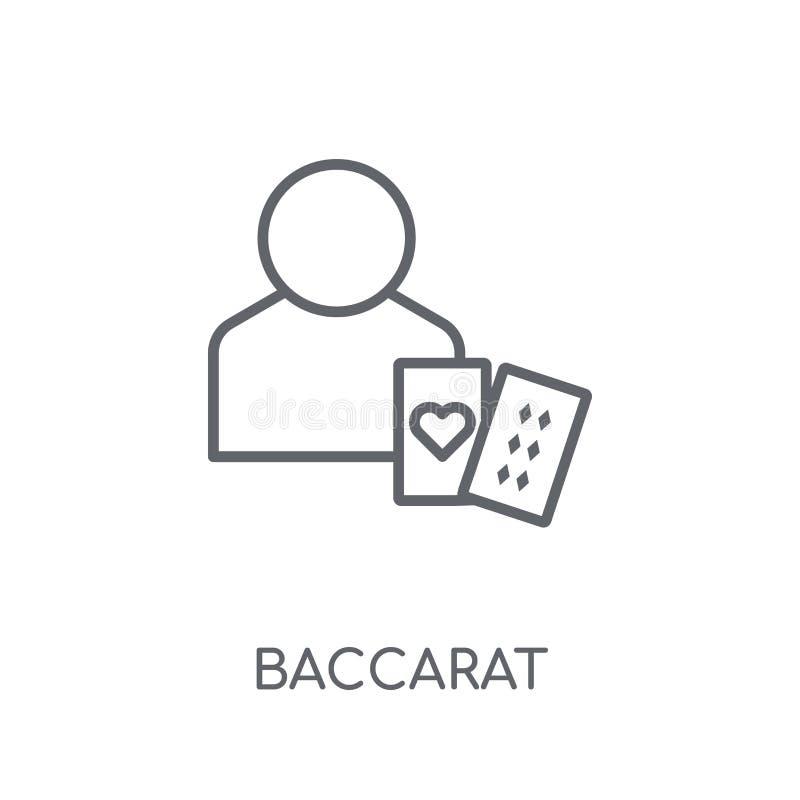 Ícone linear da bacará Conceito moderno do logotipo da bacará do esboço no wh ilustração stock