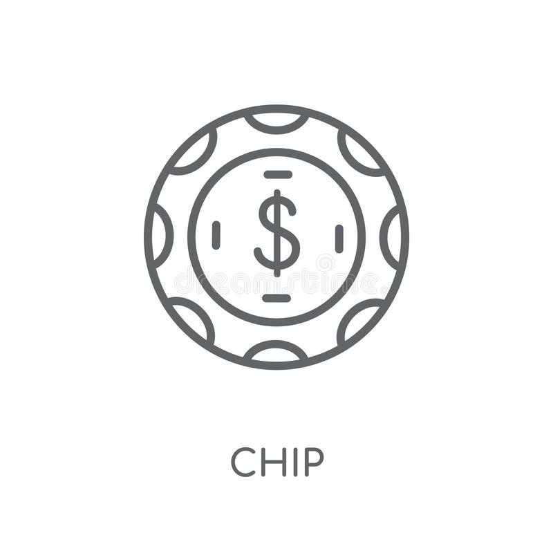 Ícone linear da Blue Chip Conceito moderno do logotipo da Blue Chip do esboço sobre ilustração do vetor