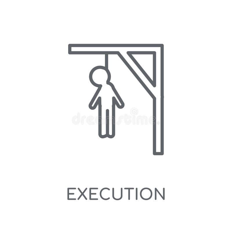ícone linear da execução Conceito moderno do logotipo da execução do esboço sobre ilustração stock