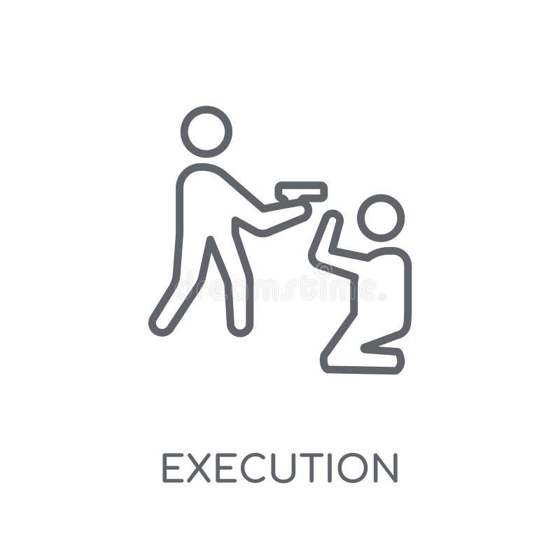ícone linear da execução Conceito moderno do logotipo da execução do esboço sobre ilustração do vetor