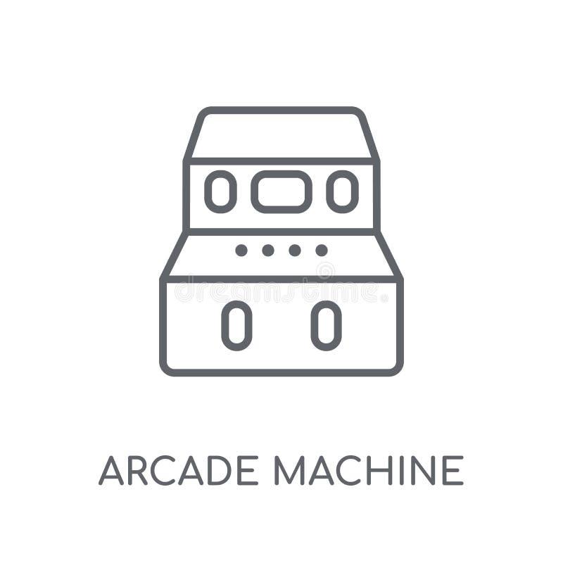 Ícone linear de Arcade Machine Logotipo moderno c de Arcade Machine do esboço ilustração do vetor