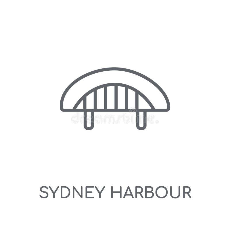 Ícone linear de Sydney Harbour Bridge Esboço moderno Sydney Harbour ilustração stock