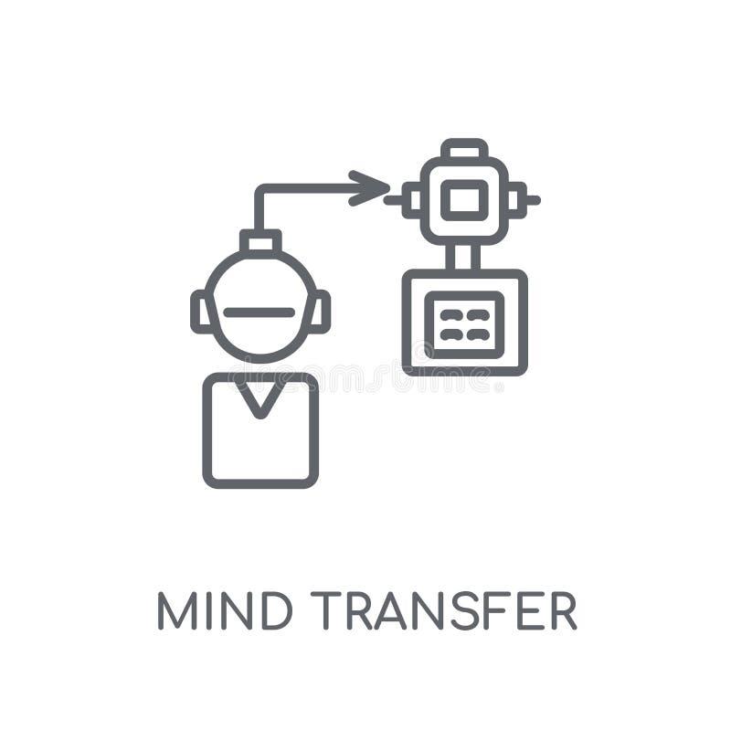 Ícone linear de transferência da mente Engodo moderno do logotipo de transferência da mente do esboço ilustração stock