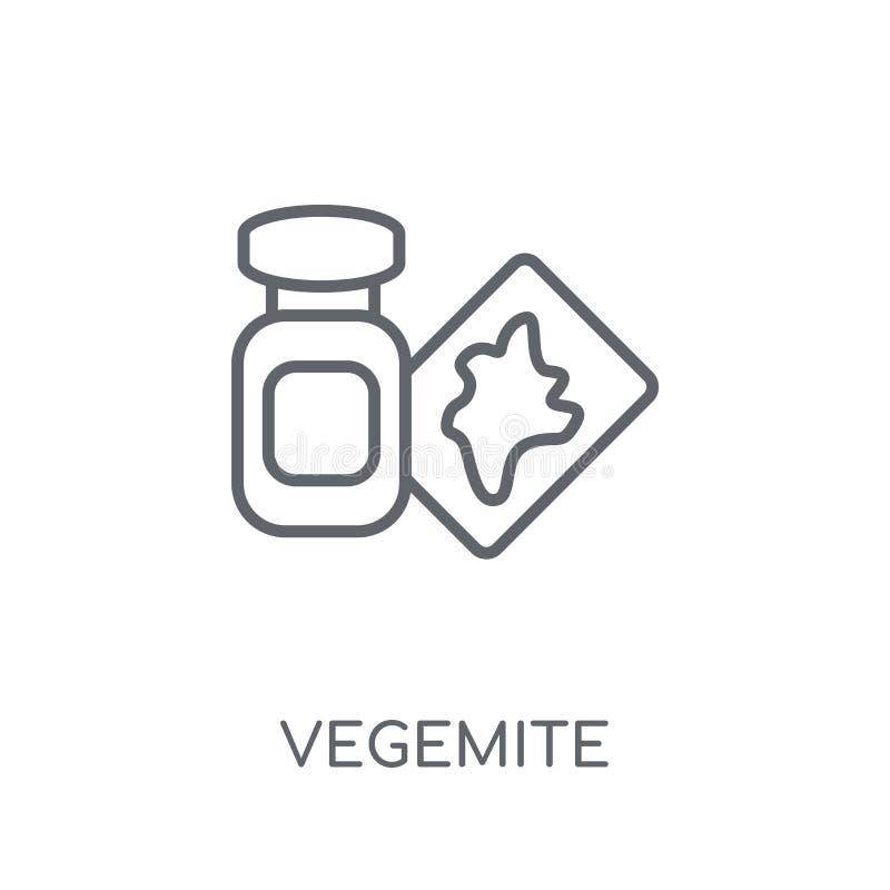 Ícone linear de Vegemite Conceito moderno do logotipo de Vegemite do esboço no wh ilustração stock