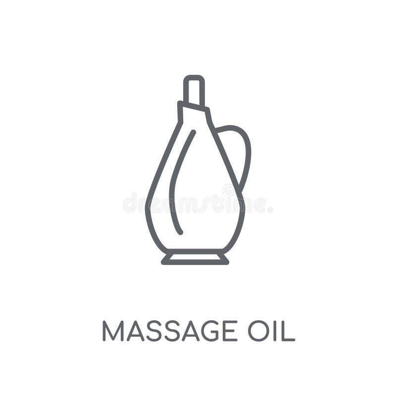 ícone linear do óleo da massagem Conceito moderno do logotipo do óleo da massagem do esboço ilustração do vetor