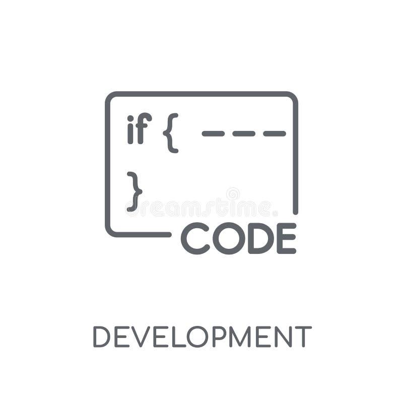 Ícone linear do desenvolvimento Conceito moderno do logotipo do desenvolvimento do esboço ilustração royalty free