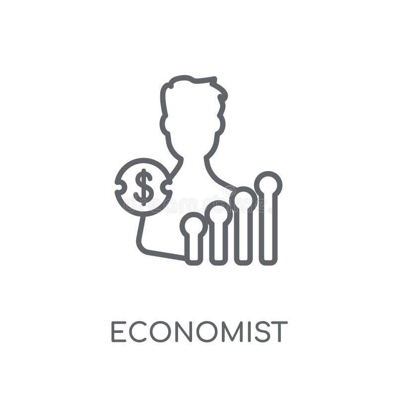 Ícone linear do economista Conceito moderno do logotipo do economista do esboço sobre ilustração stock