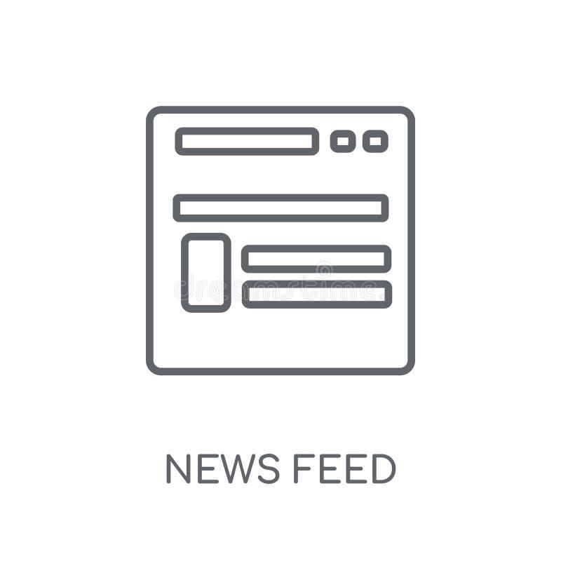 ícone linear do feed noticioso Conceito moderno do logotipo do feed noticioso do esboço sobre ilustração do vetor