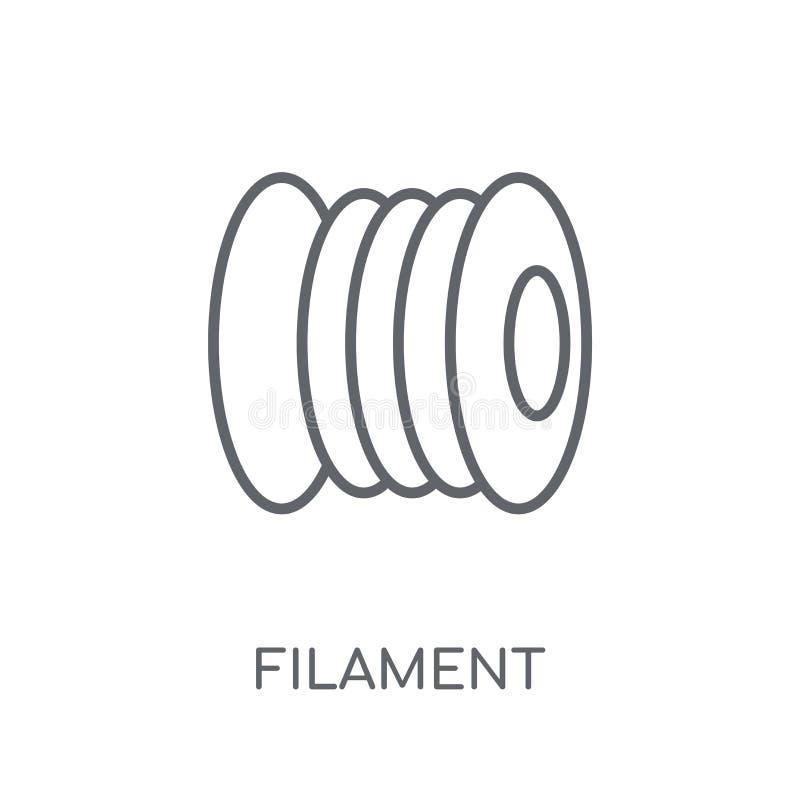 ícone linear do filamento Conceito moderno do logotipo do filamento do esboço no wh ilustração do vetor