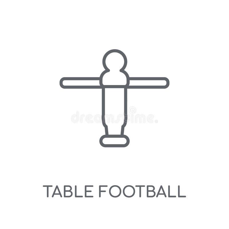 Ícone linear do futebol da tabela Logotipo moderno c do futebol da tabela do esboço ilustração do vetor