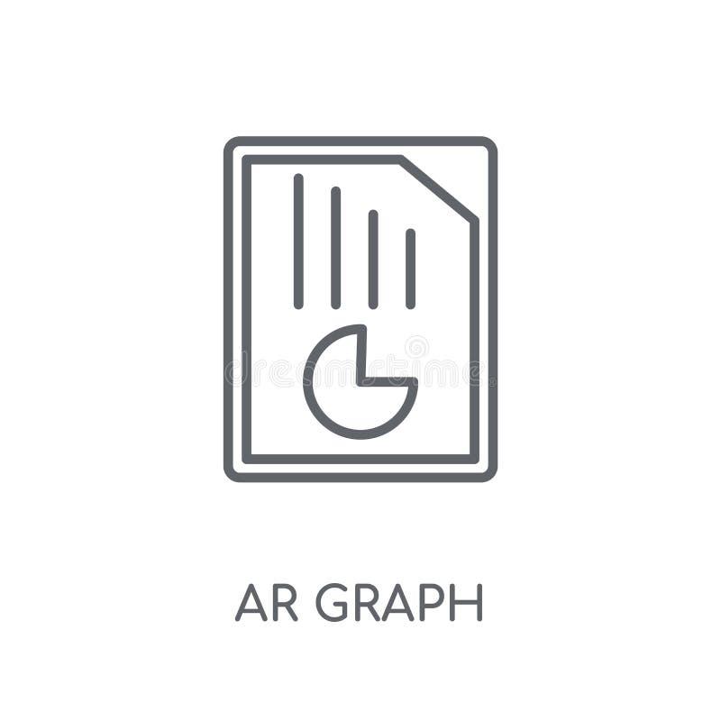 ícone linear do gráfico da AR Conceito moderno do logotipo do gráfico da AR do esboço no wh ilustração stock