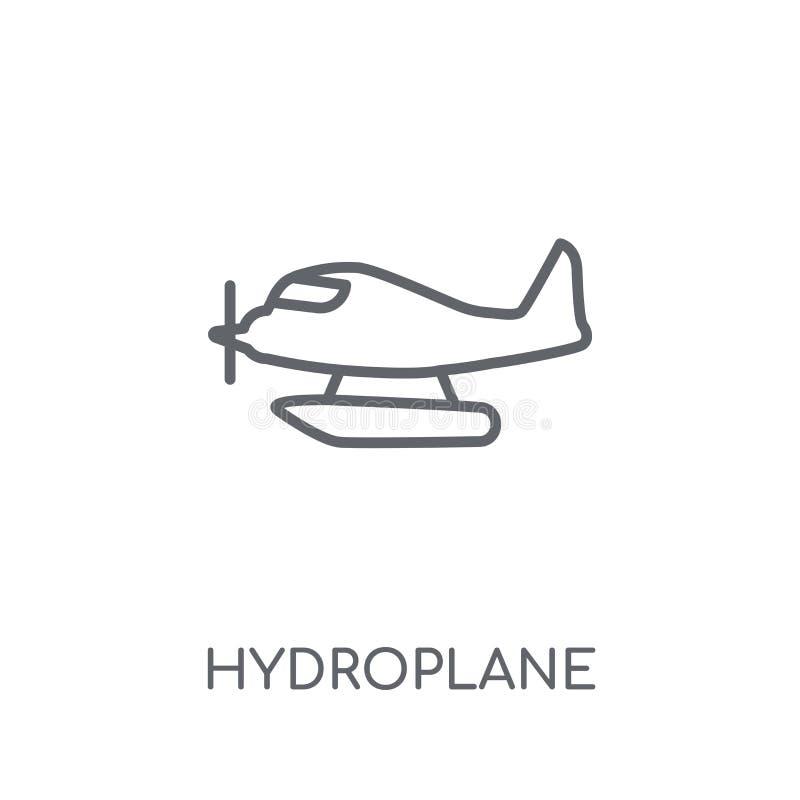 ícone linear do hidroavião Conceito moderno o do logotipo do hidroavião do esboço ilustração do vetor