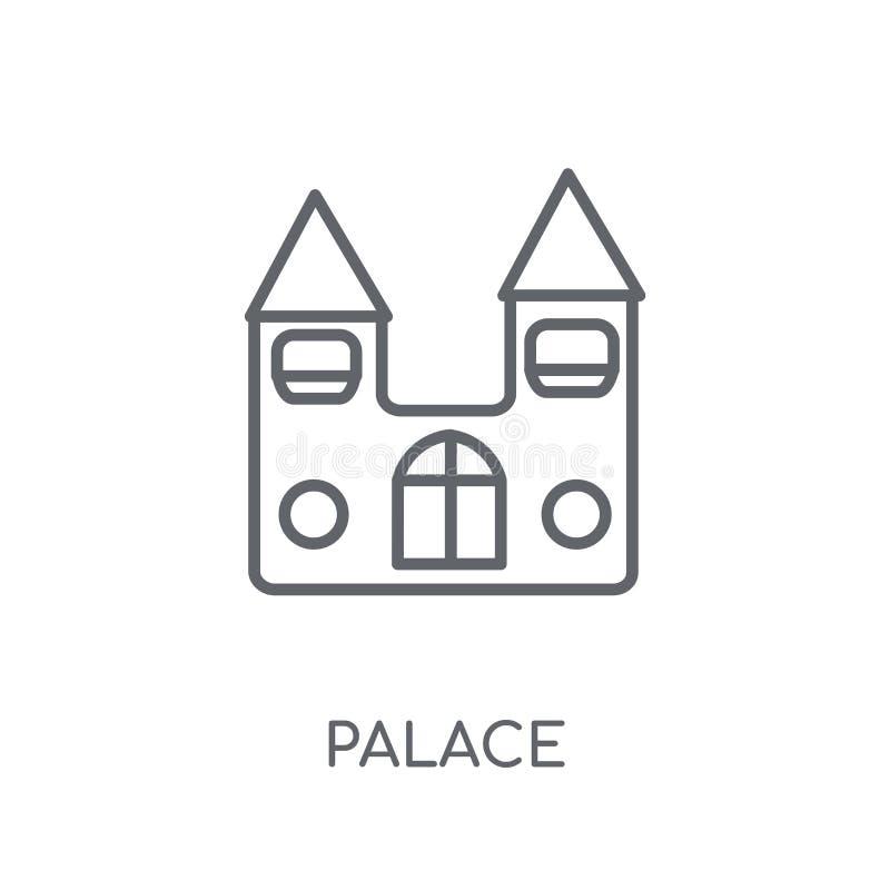 Ícone linear do palácio Conceito moderno do logotipo do palácio do esboço no branco ilustração royalty free
