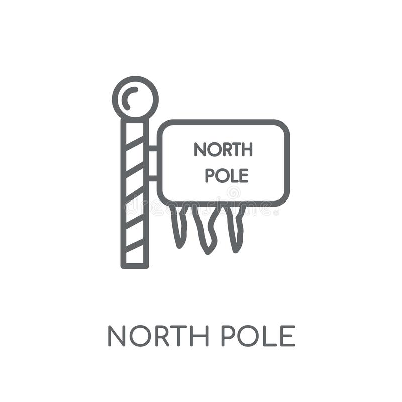 Ícone linear do Polo Norte Conceito moderno o do logotipo do Polo Norte do esboço ilustração royalty free
