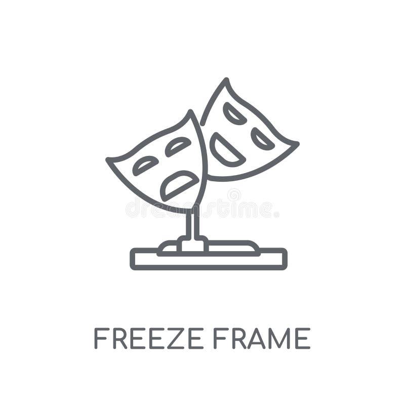 ícone linear do quadro de gelo Conce moderno do logotipo do quadro de gelo do esboço ilustração stock