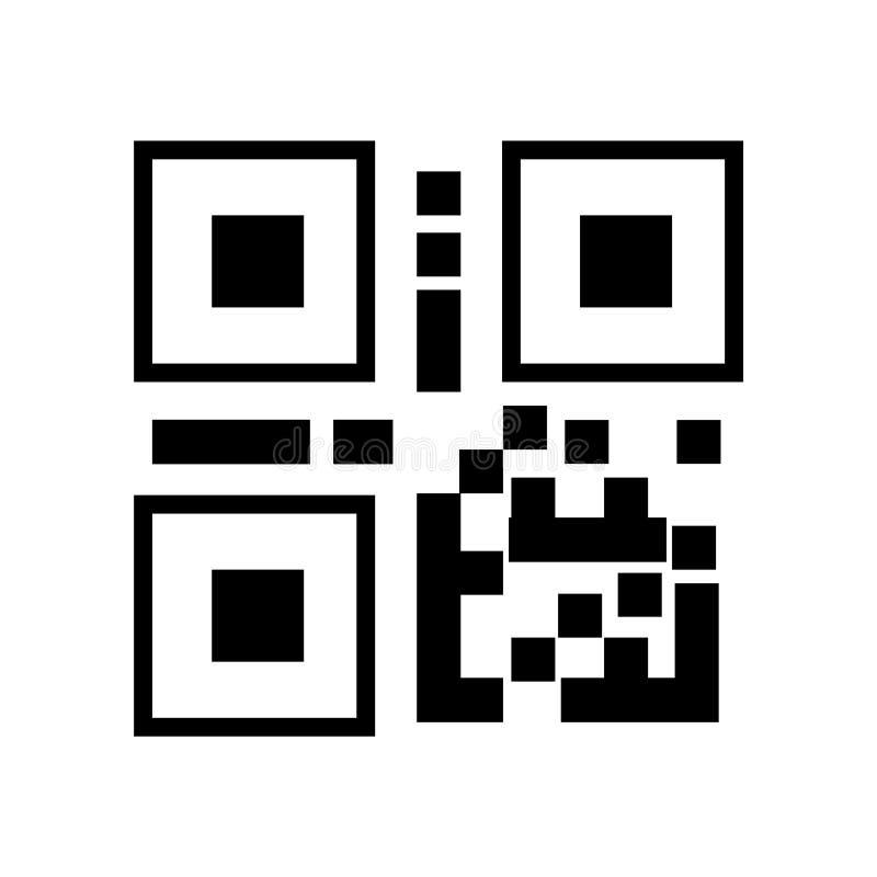 Ícone linear do símbolo da ilustração do vetor do QR Code do preto do código de QR ilustração do vetor