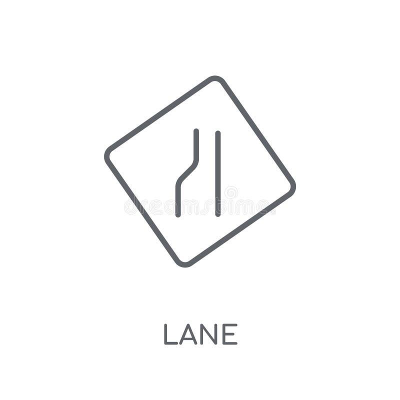 Ícone linear do sinal da pista Conceito moderno do logotipo do sinal da pista do esboço sobre ilustração royalty free