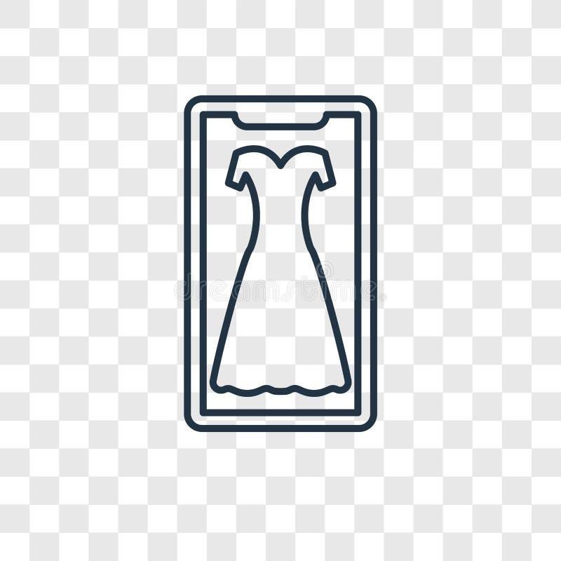 Ícone linear do vetor do conceito da forma isolado no backg transparente ilustração royalty free