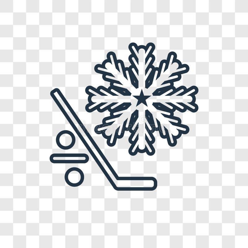 Ícone linear do vetor do conceito do gelo isolado no backgr transparente ilustração do vetor