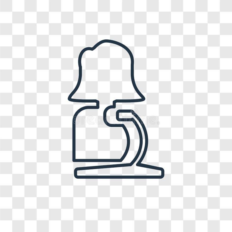 Ícone linear do vetor do conceito do orador isolado no backg transparente ilustração royalty free
