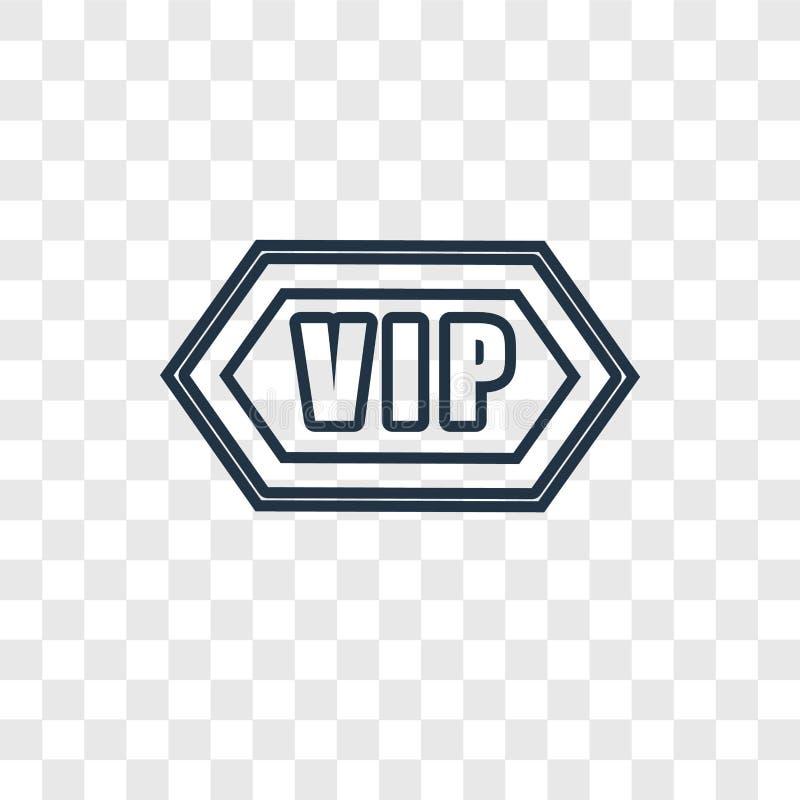 Ícone linear do vetor do conceito do Vip isolado no backgroun transparente ilustração do vetor