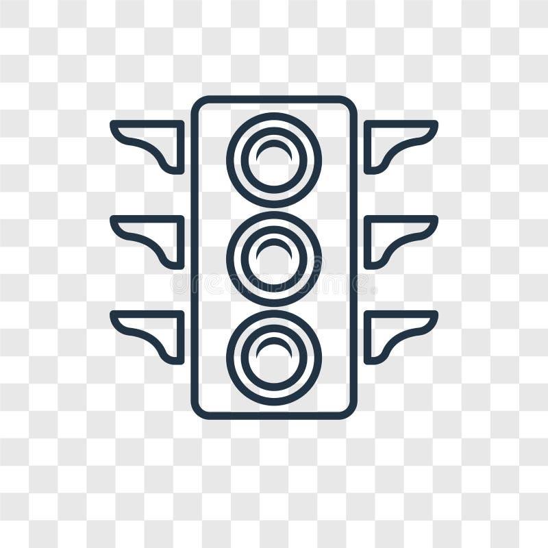 Ícone linear do vetor grande do conceito do sinal isolado no transpa ilustração stock