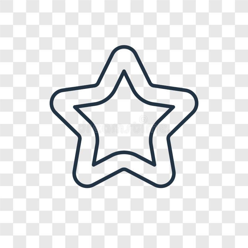Ícone linear do vetor vazio do conceito da estrela isolado em vagabundos transparentes ilustração stock