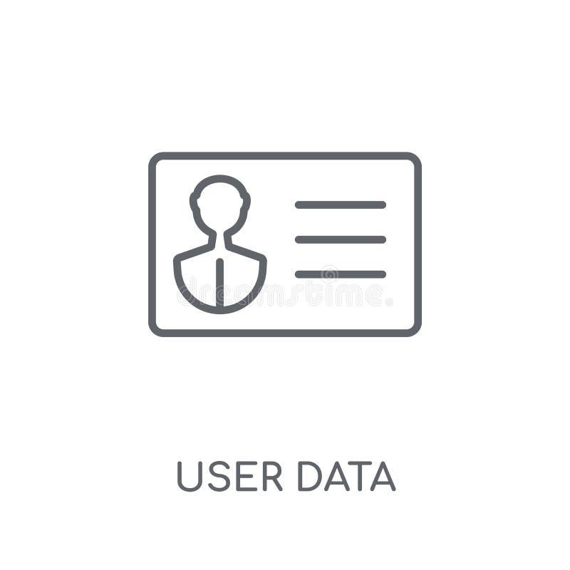 ícone linear dos dados de usuário Conceito moderno do logotipo dos dados de usuário do esboço sobre ilustração royalty free