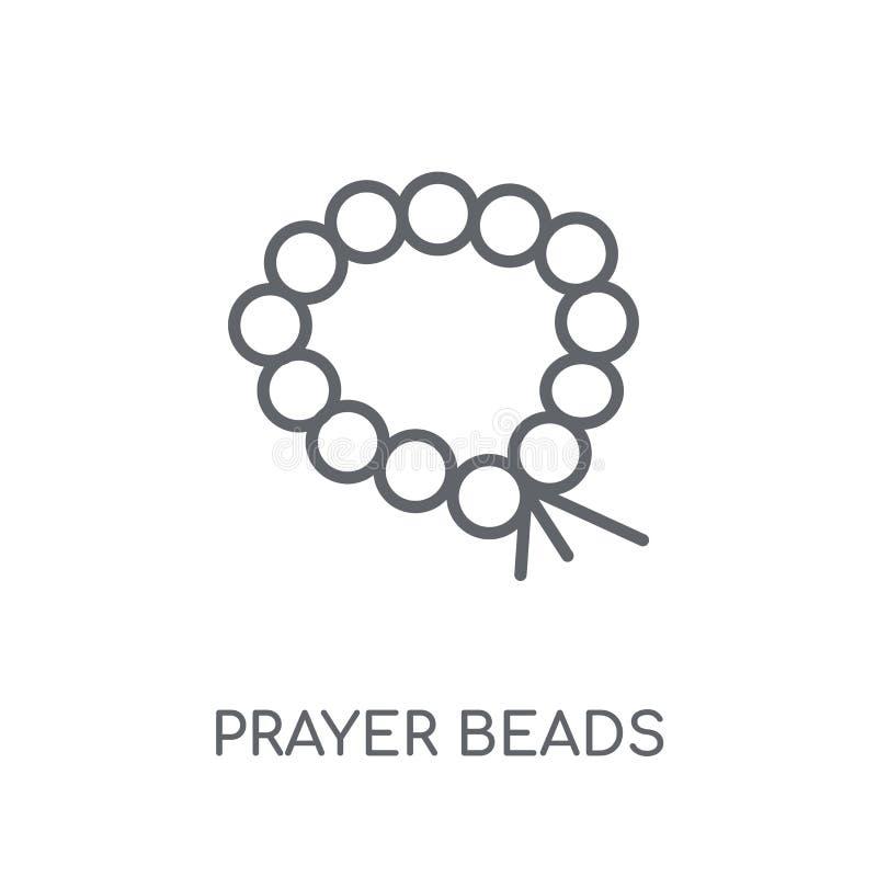 Ícone linear dos grânulos de oração Conce moderno do logotipo dos grânulos de oração do esboço ilustração do vetor