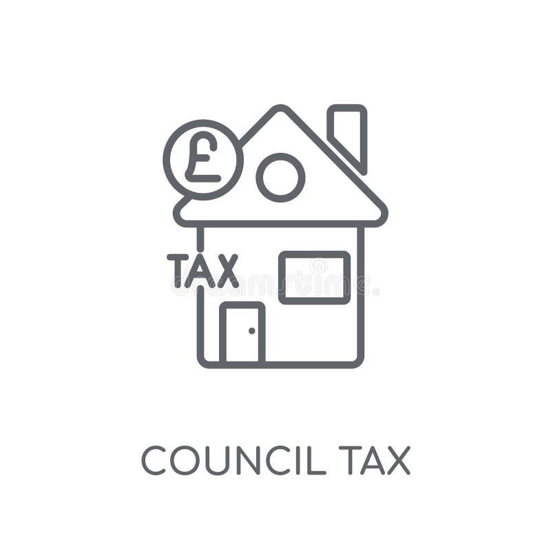Ícone linear dos impostos municipais Conceito moderno do logotipo dos impostos municipais do esboço ilustração do vetor