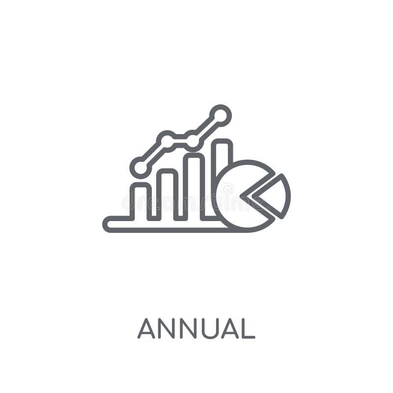 Ícone linear equivalente anual da taxa (AER) Anuário moderno do esboço ilustração royalty free