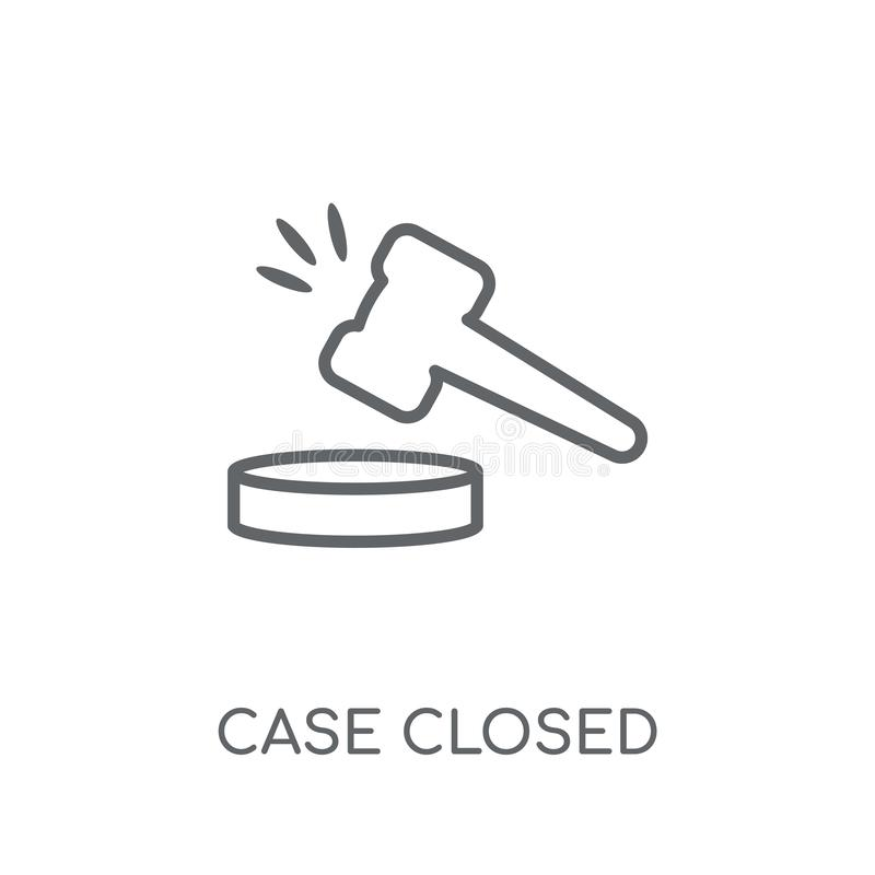 Ícone linear fechado do caso Conceito fechado do logotipo do caso moderno do esboço ilustração royalty free