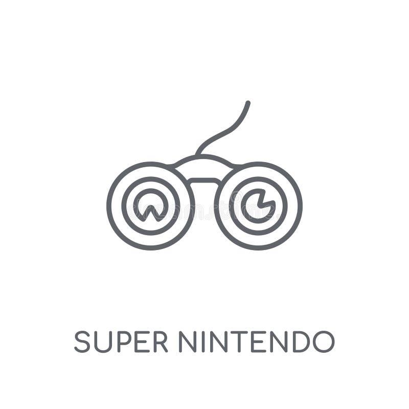 Ícone linear super de Nintendo Logotipo super c de Nintendo do esboço moderno ilustração stock