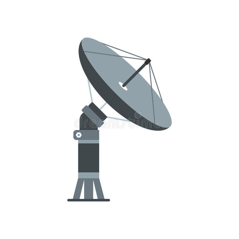 Ícone liso aereal parabólico ilustração do vetor