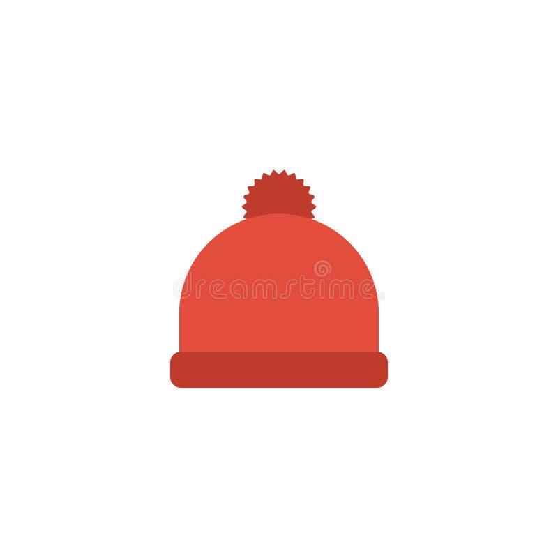 Ícone liso Beanie Element Ilustração do vetor do Pompom liso do ícone isolado no fundo limpo Pode ser usado como o Pompom ilustração royalty free