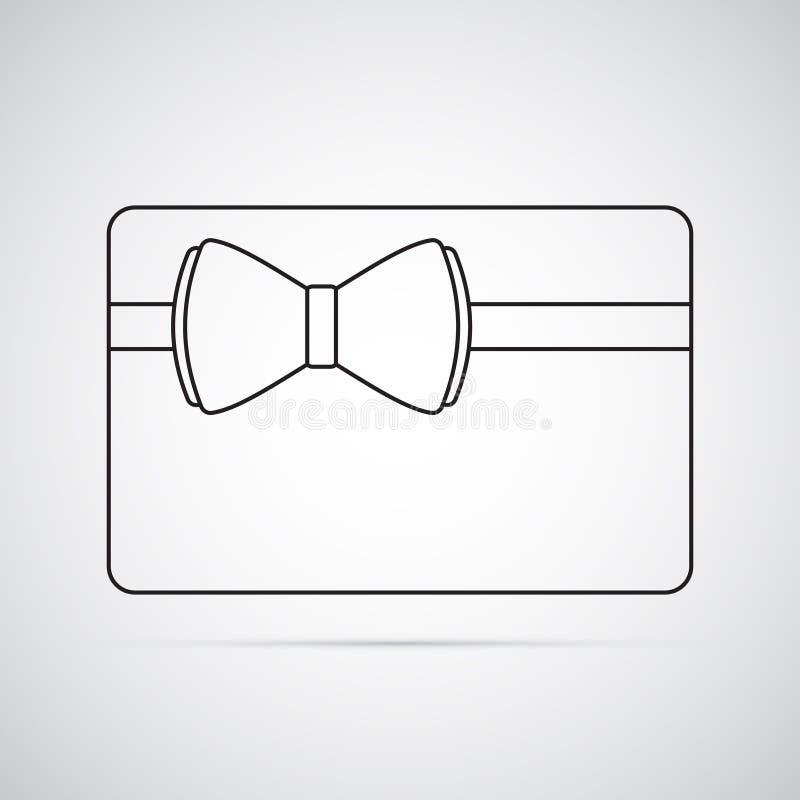 Ícone liso cinzelado da silhueta, projeto simples do vetor Cartão do retângulo com curva ilustração do vetor