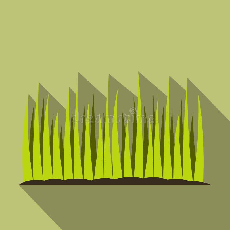 Ícone liso crescente da grama ilustração do vetor